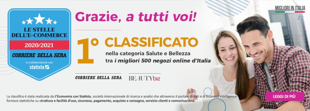 Profumomania.com con Open2b: premiato stella dell'ecommerce 2020-2021 dal Corriere della Sera